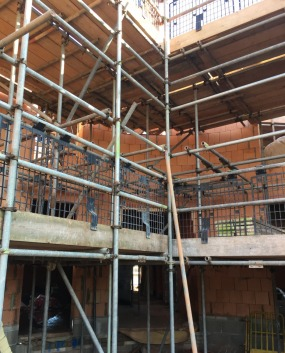 Passivhaus Social Housing Flats Exeter Construction Site